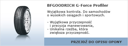 BFGOODRICH G-Force Profiler